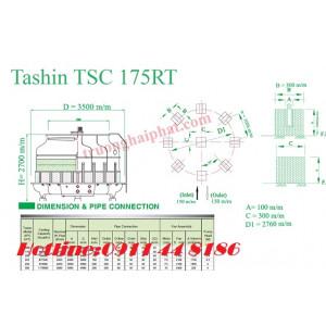 Lắp đặt tháp giải nhiệt Tashin 175RT tại Hà Nội