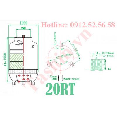 Tháp giải nhiệt 20RT giải pháp hoàn hảo cho máy ép nhựa