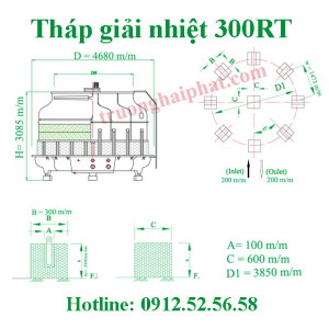 Tháp giải nhiệt Tahsin 300RT