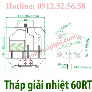 Lắp đặt tháp giải nhiệt tashin 60RT