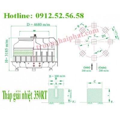 Tháp giải nhiệt Tashin 350RT