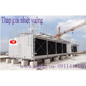 Lắp đặt tháp giải nhiệt vuông tại Hà Nội